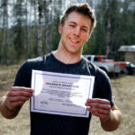 wildland firefighter with training certificate