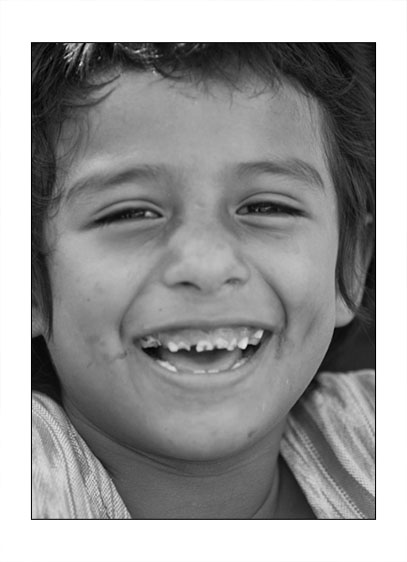 A smiling boy at the Orphanage Casa Hogar Alegre