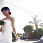 Bride with dress during her wedding on Gran Canaria