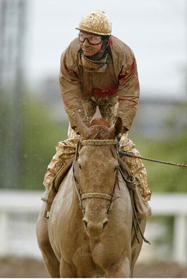 Muddy Horse Derby with Rider