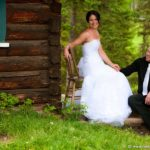 Rustic wedding bride groom