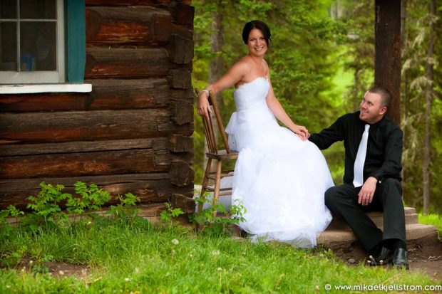 Rustic wedding bride groom