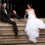 Bride Groom Hayloft wedding on Farm
