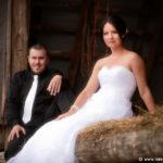 Hayloft wedding on Farm