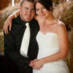 Hayloft wit hay wedding on Farm